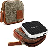 Tuff-luv Herringbone Tweed Travel Case for Sandisk Connect Wireless Media Drive
