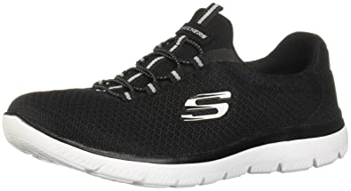 Black Summits Fitness Women's Trainers Sneaker Memory Skechers Foam kTwZilPXOu