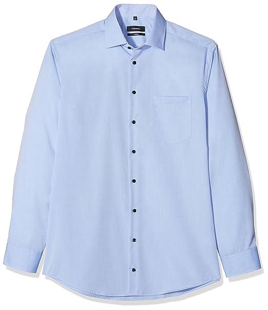 X Slim Extra Langer Arm Mit Kent Kragen Bügelfrei, Camisa de Oficina para Hombre, Azul (Blau 12), Medium (Talla del Fabricante: 39) Seidensticker