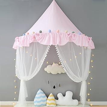 Nordic Ideas Ciel de Lit Rose Tente de Lit Princesse Moustiquaire de ...