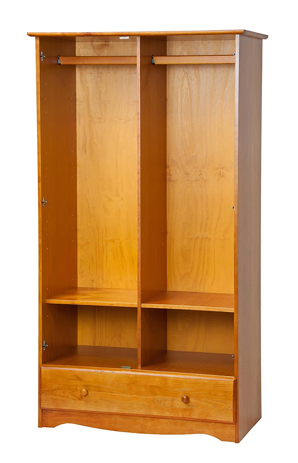 Your home improvements refference solid wood wardrobe closet - Amazon Com 100 Solid Wood Universal Wardrobe Armoire Closet By Palace Imports Honey Pine Color 40 W X 72 H X 21 D 2 Clothing Rods 2 Shelves 1 Lock
