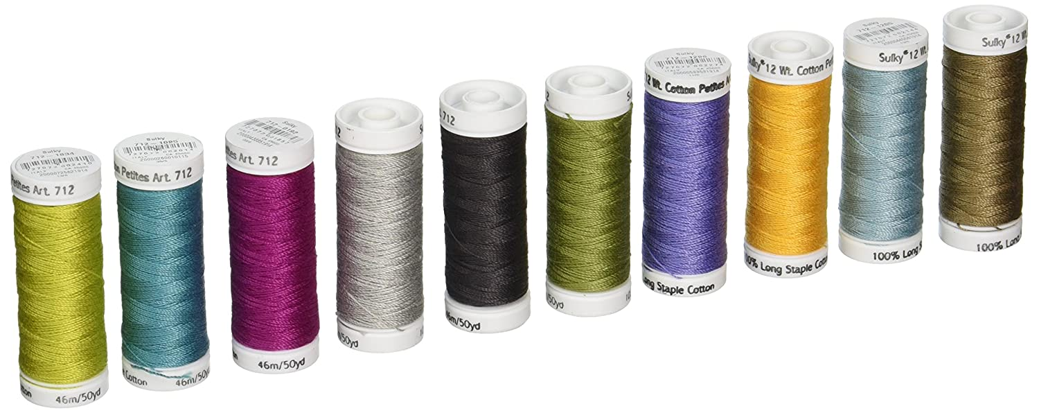 Sulky 712-29 Grand Collection Crossroads Cotton Petites 12 Weight (10 Pack), Multicolor Notions