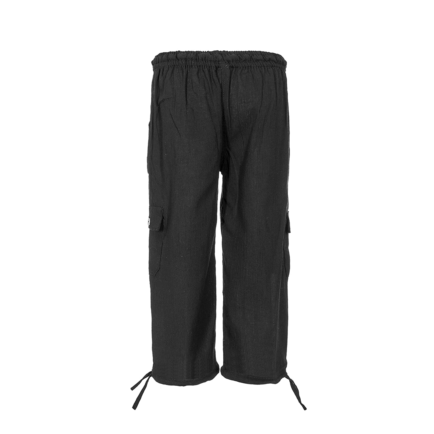 100/% Cotton Breathable Comfortable Fabric Tumia LAC Lightweight Childrens Trousers Various Colours Elasticated Drawstring Waist