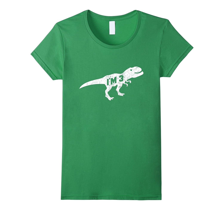 3rd Birthday Dinosaur Shirt Age 3 For Boy Child