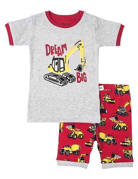 00e2e362f Hatley - Pijama dos piezas - para niño rojo Heavy Duty Machines 10 años