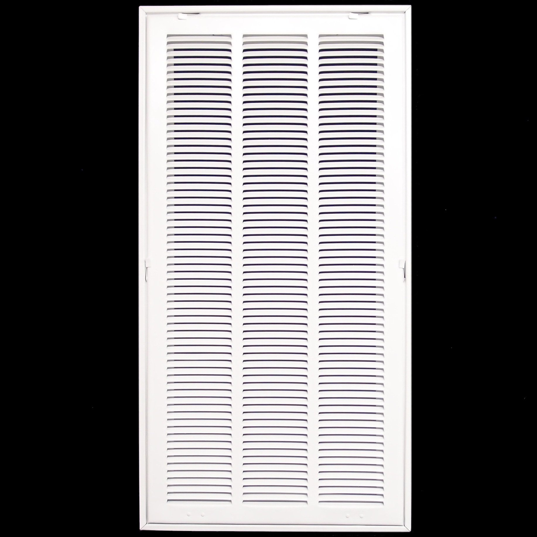 14'' X 36 Steel Return Air Filter Grille for 1'' Filter - Fixed Hinged - ceiling Recommended - HVAC DUCT COVER - Flat Stamped Face - White [Outer Dimensions: 16.5''w X 38.5''h]