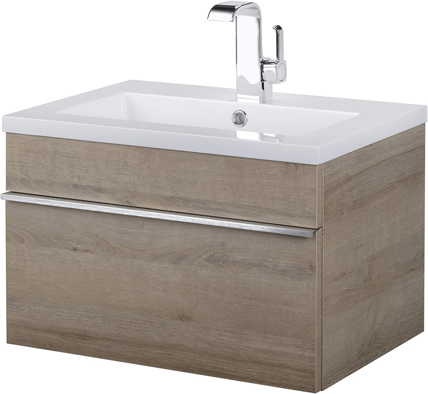 Amazon Com Cutler Kitchen And Bath Fv Tr Organic24 Trough 24 Wall Mounted Single Vanity Set With Acrylic Vanity Top Furniture Decor