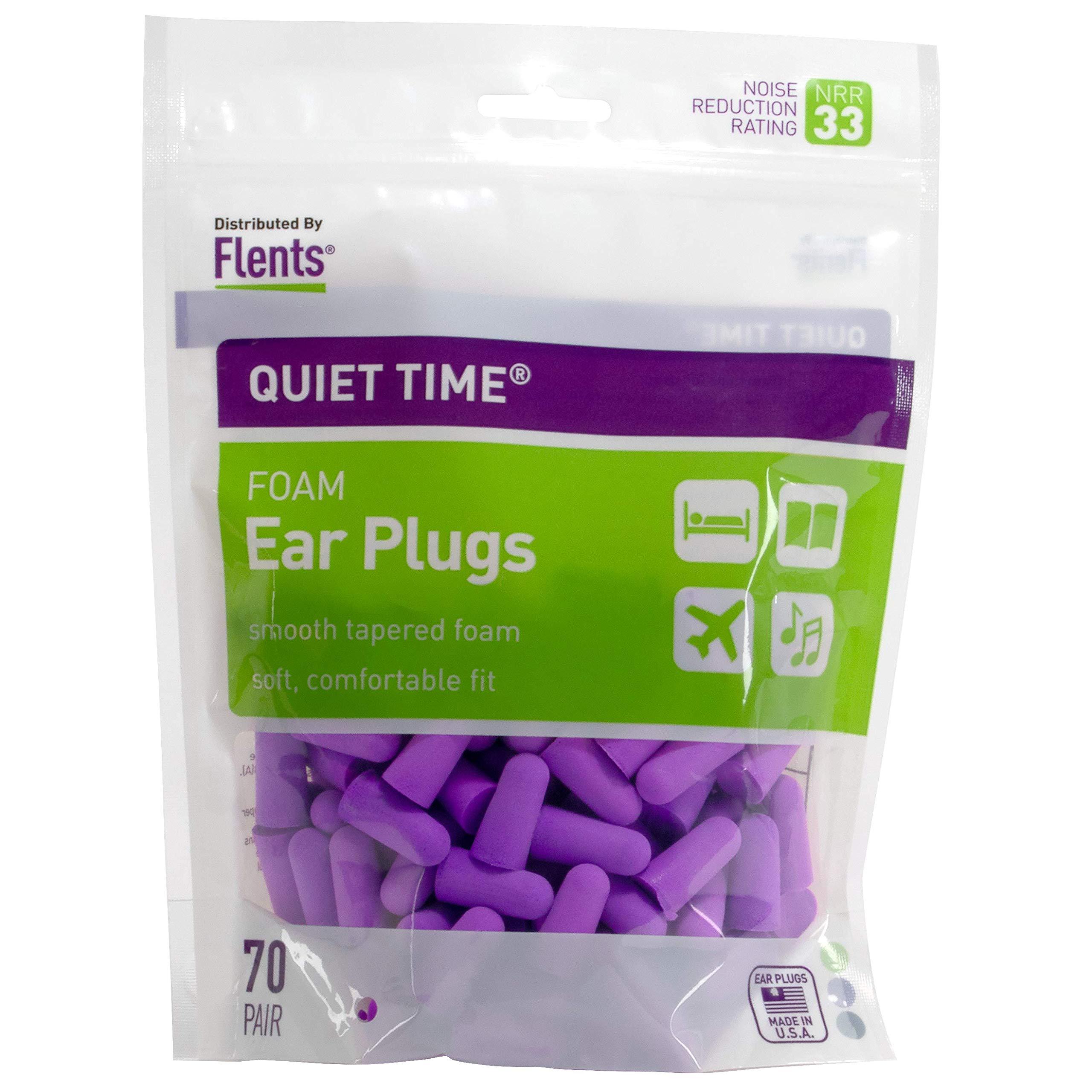 Flents Quiet Time Ear Plugs/Earplugs (70 Pair Bonus Pack) NRR 33 by Flents (Image #1)