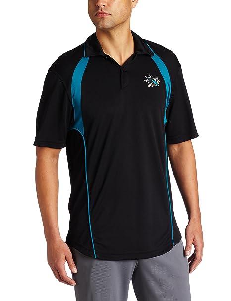 cheap for discount 1c425 0d778 Reebok NHL Men's San Jose Sharks Trainer Polo Shirt