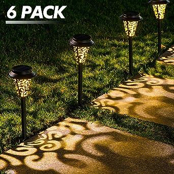 LeiDrail Luces Jardin Solares Llama Solar Luces Jardin Luces Solares Jardin Decorativas Farolillos Solares Exterior Iluminación de Caminos para Camino Patio Césped Pasillo (6 pieza): Amazon.es: Iluminación
