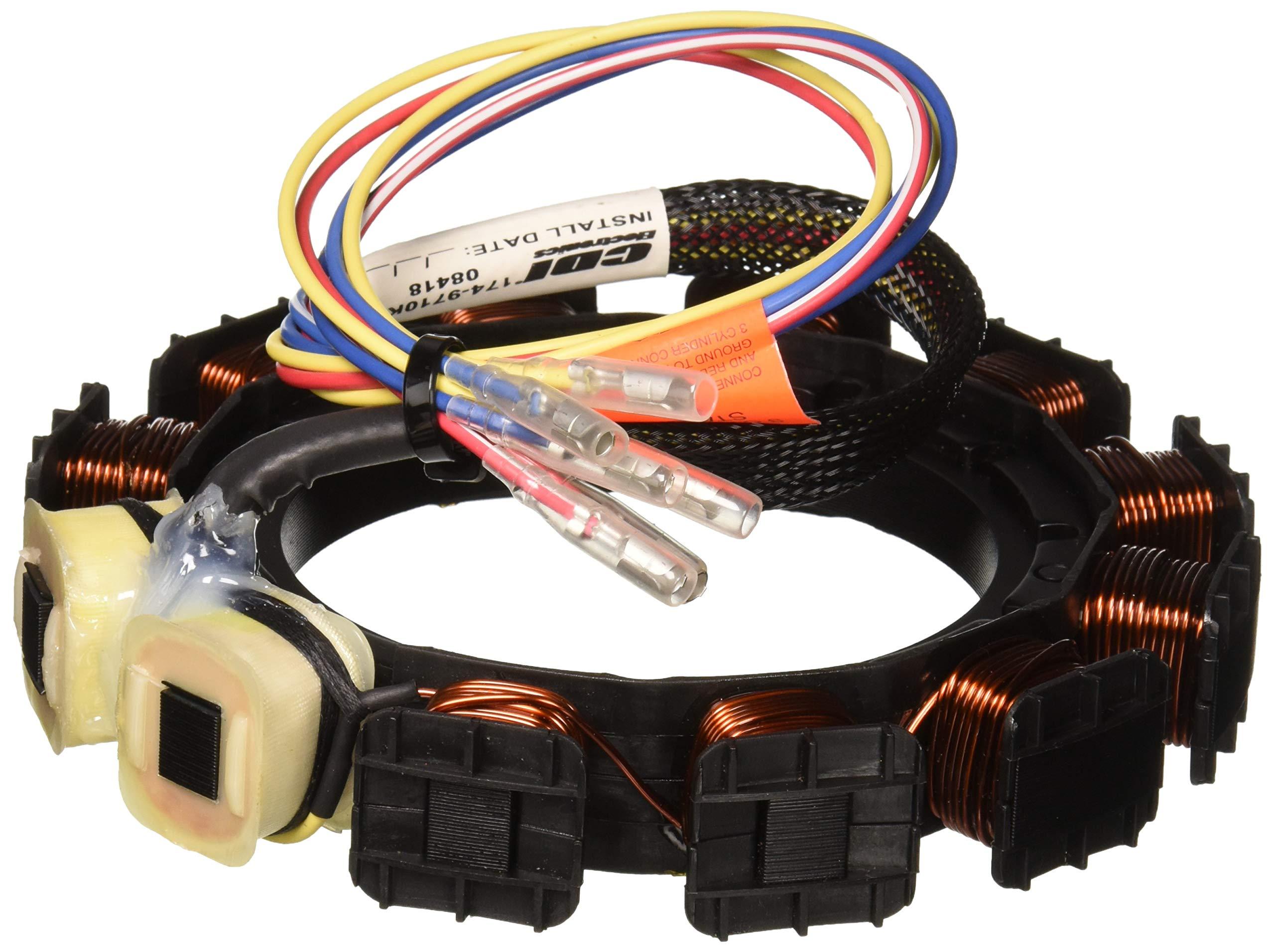 CDI Electronics 174-9710K1 174-9710K 1 Mercury/Mariner Stator-2/3/4 Cyl. 16 Amp (1987-1997)