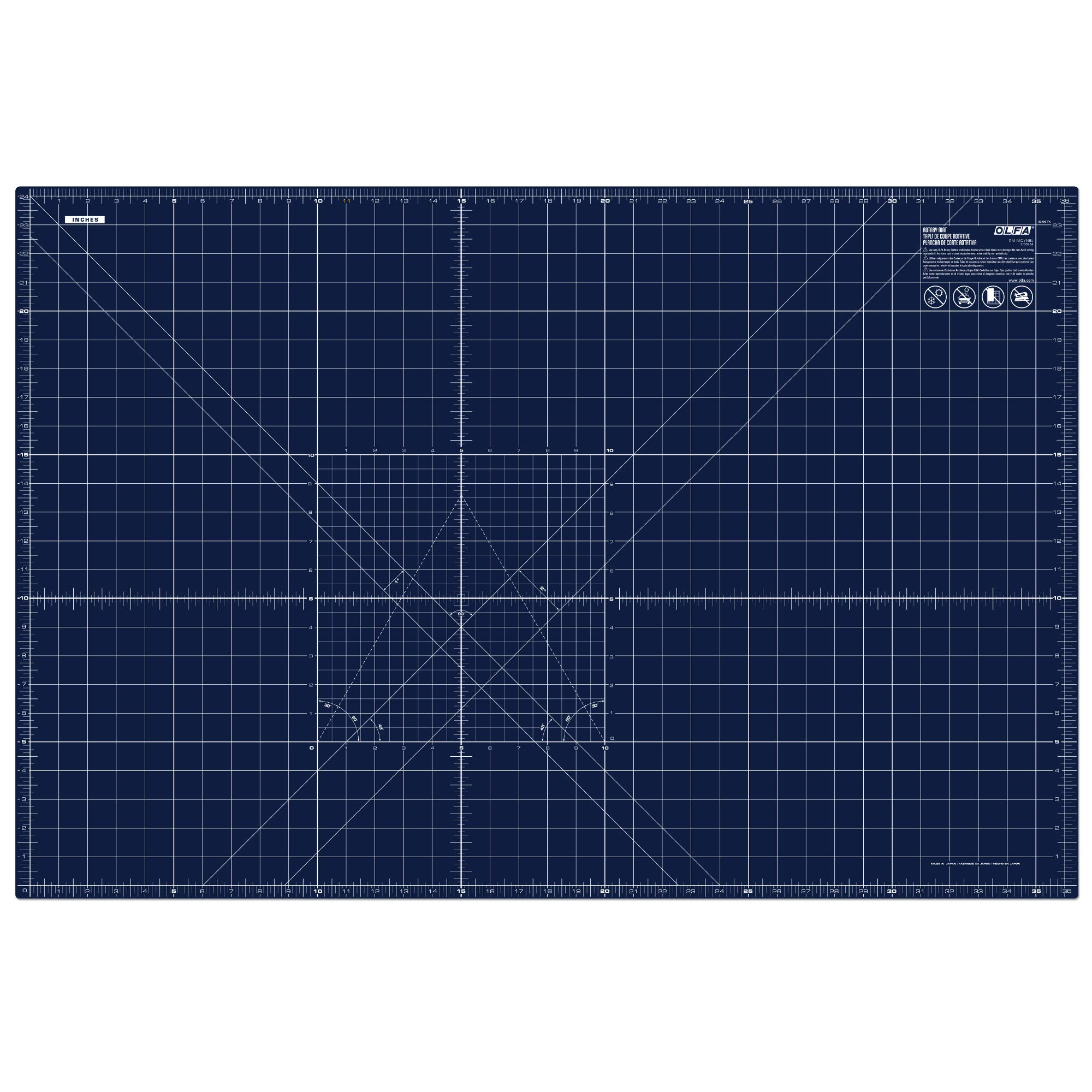 OLFA 1135484 RM-MG NBL Cutting Mat, 24x36, Blue by OLFA