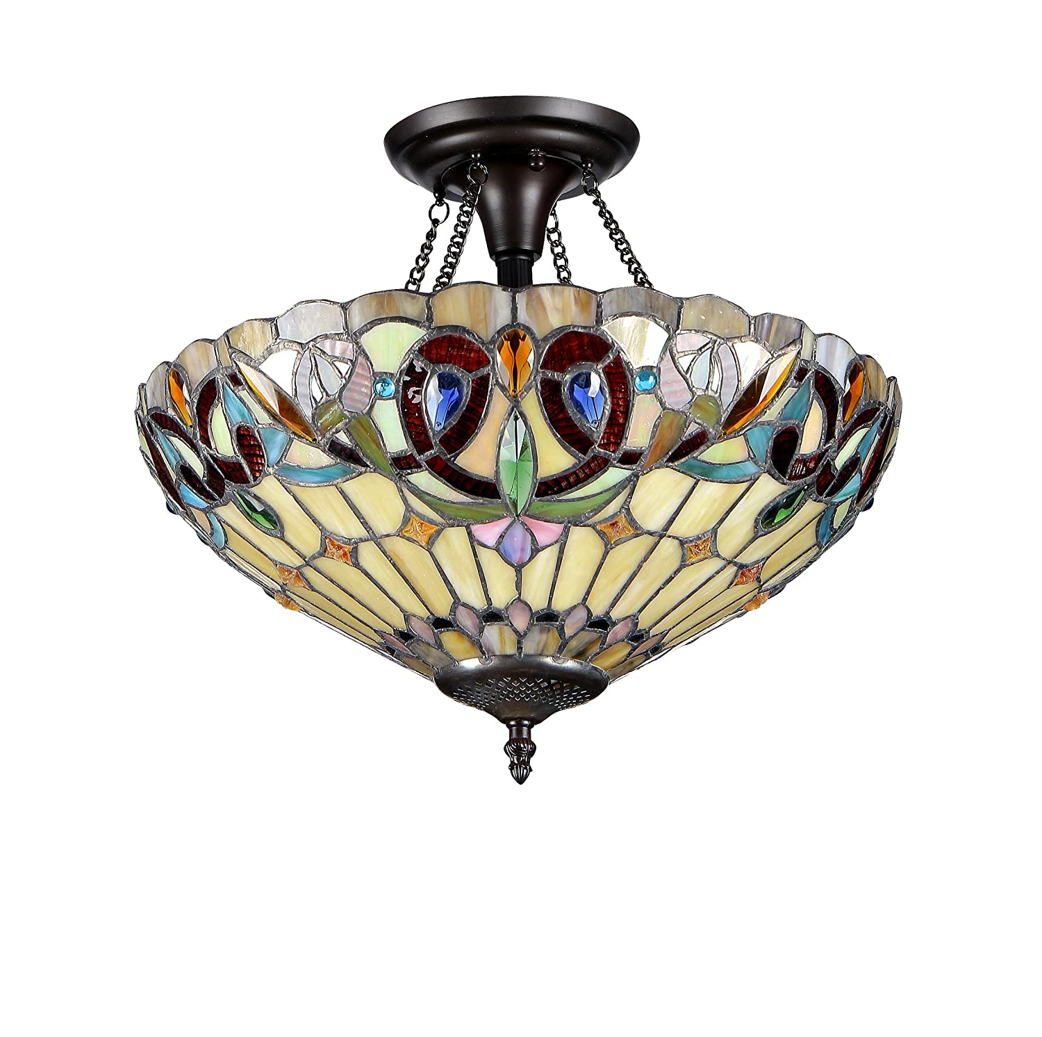 Chloe lighting chloe lighting serenity 2 light tiffany style chloe lighting chloe lighting serenity 2 light tiffany style victorian semi flush ceiling fixture with 16 in shade close to ceiling light fixtures aloadofball Choice Image