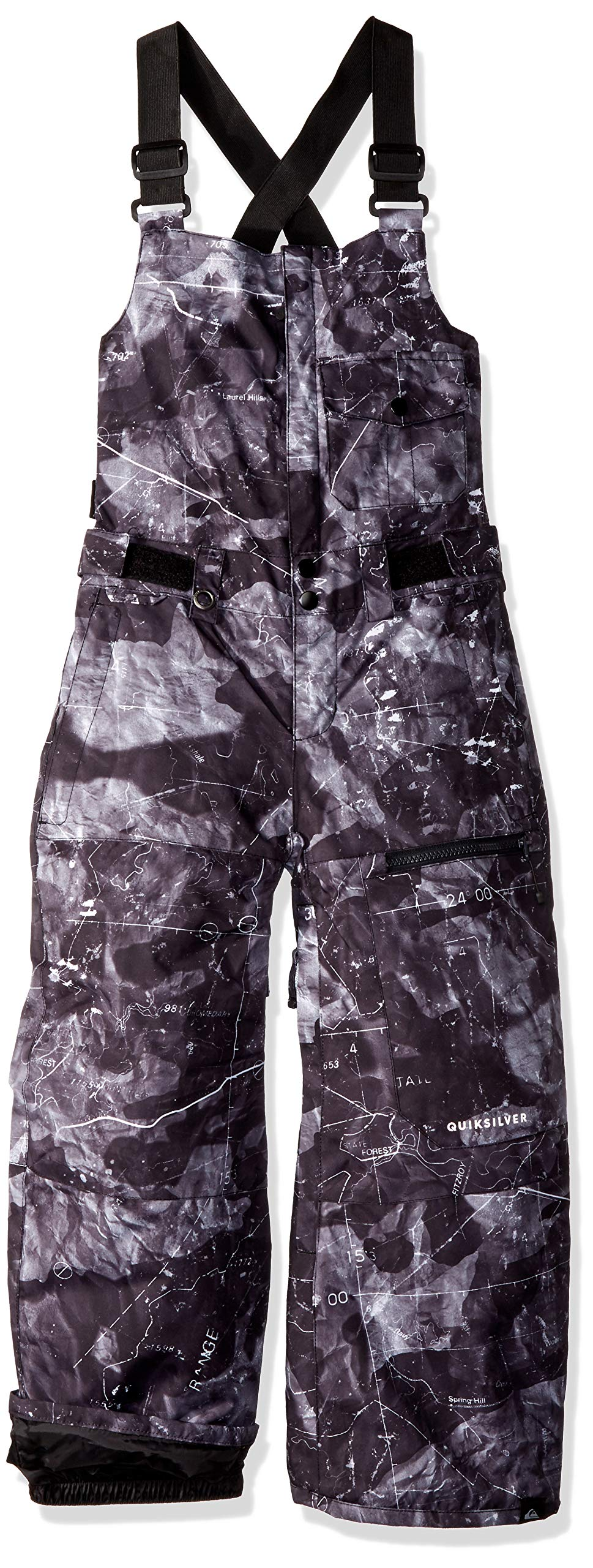 Quiksilver Boys' Big Stratus Youth BIB 10K Snow Pants, Black TANNENBAUM, 10/M