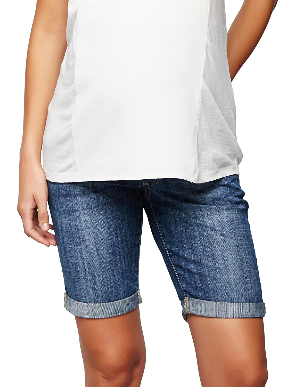 A Pea in the Pod Luxe Essentials Denim Secret Fit Belly Maternity Bermuda Shorts