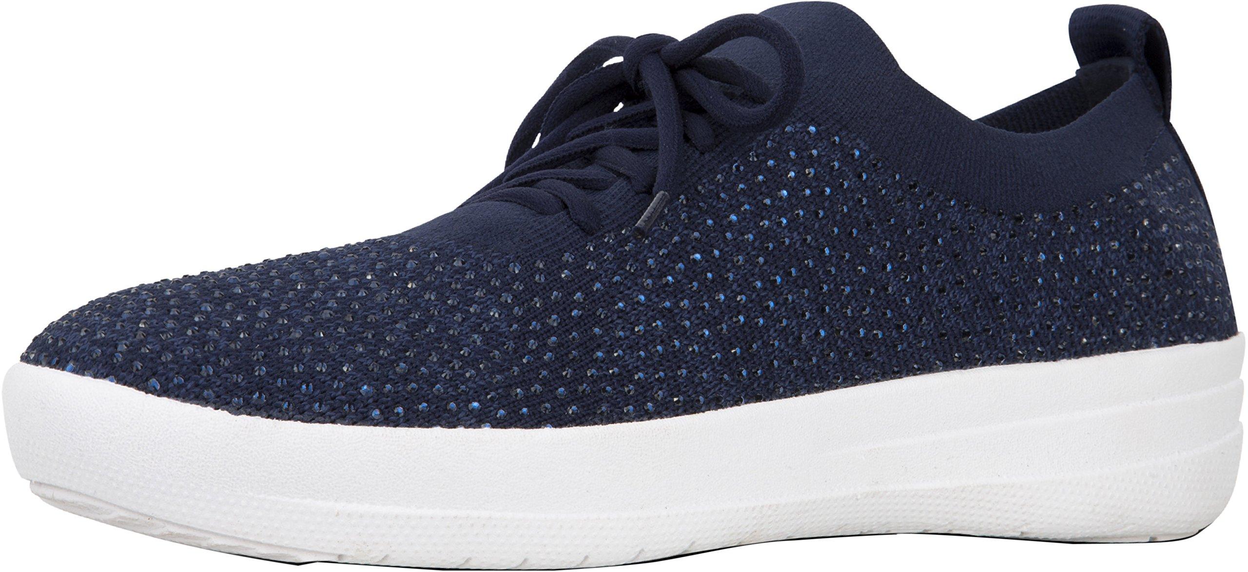 FitFlop Women's F-Sporty Uberknit Sneakers Midnight Navy 7 M US