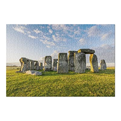 England - Stonehenge on a Sunny Day 9035838 (Premium 500 Piece Jigsaw Puzzle for Adults, 13x19, Made in USA!): Toys & Games