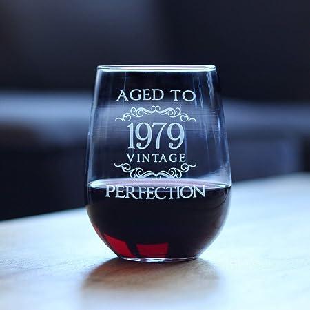 Vaso de vino vintage de Aged to Perfection 1979, sin tallo ...