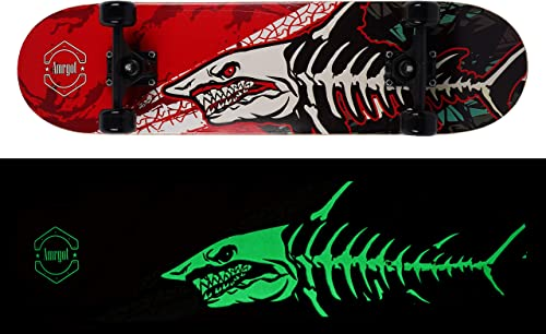Amrgot Skateboards Pro 31 inches Complete Night Light Skateboard