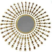 Meida Crystal Sunburst Wall Mirror Large Wall Hotel Hanging Decor