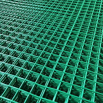 Wire Mesh Sheets | Marko Fencing 6ft X 3ft Green Pvc Coated Wire Mesh Panels Sheet 1