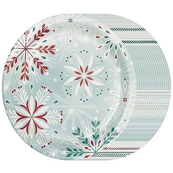Fancy Paper Plates Bulk Decorative Party Supplies Christmas Snowflake Memberu0027s Mark Hoilday Dinner Plates  sc 1 st  Amazon.com & Amazon.com: Fancy Paper Plates Bulk Decorative Party Supplies ...