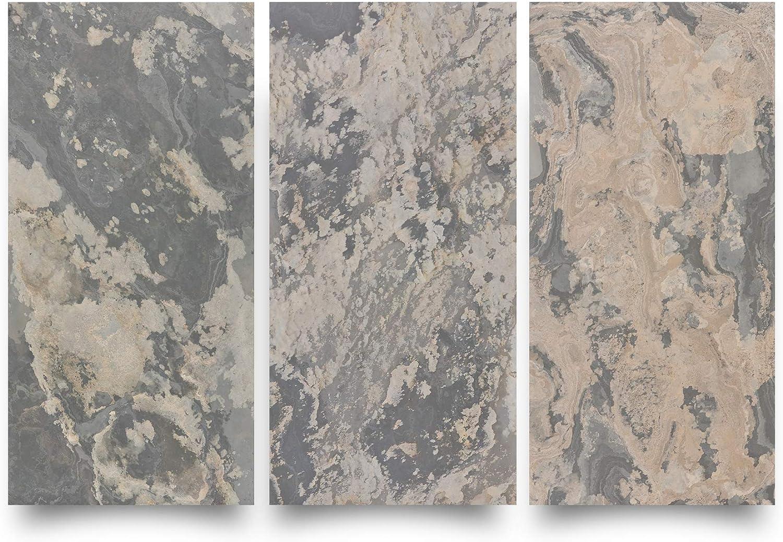 Sample KinglySlate Flexible Natural Stone Veneer Sheet Indian Autumn Rustic Slate Sample