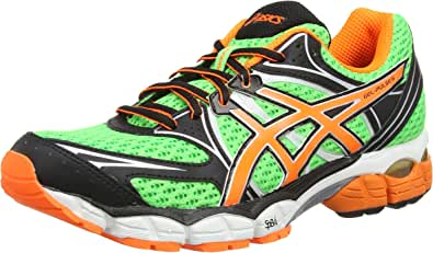 ASICS Gel-Pulse 6, Zapatillas de Running Hombre^Mujer, Verde (Flash Green/Flash Orange/Onyx 8530), 42 EU: Amazon.es: Zapatos y complementos