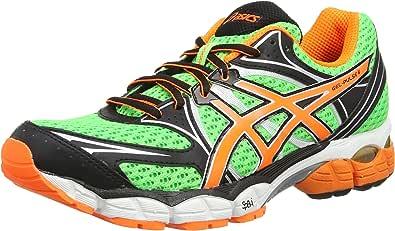ASICS Gel-Pulse 6, Zapatillas de Running Hombre^Mujer, Verde (Flash Green/Flash Orange/Onyx 8530), 42 EU: Amazon.es: Zapatos y complementos