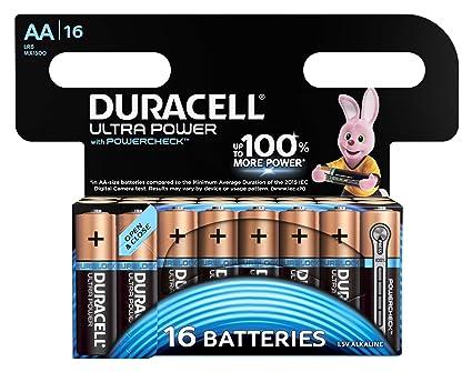 Duracell Ultra Power - Pilas alcalinas AA, paquete de 16 unidades
