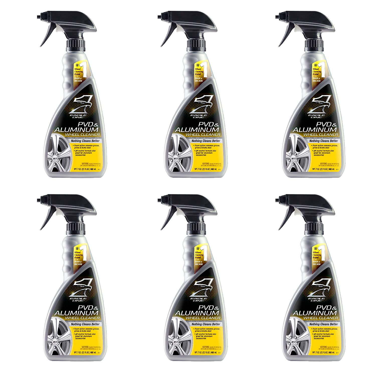 Amazon.com: Eagle One 824334-CASE PVD and Aluminum Wheel Cleaner, 23 fl. oz, 6 Pack: Automotive