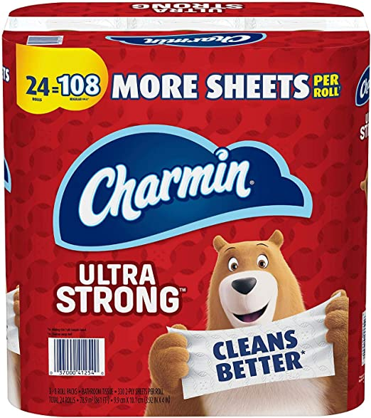 NEW Charmin Ultra Strong Toilet Paper Mega Roll 24 Count FREE SHIPPING