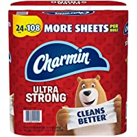Charmin Ultra Strong Toilet Paper 24 Mega Plus Roll, Bath Tissue, 330 Sheets Per Roll