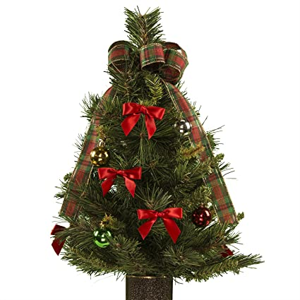 Amazon.com: 24 Inch Decorated Artificial Christmas Tree with ...