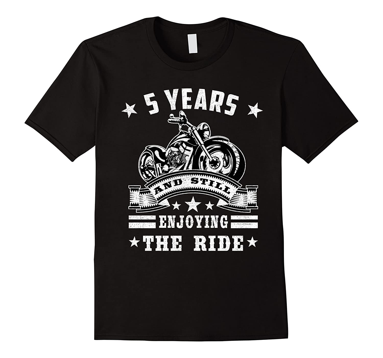 5 Years And Still Enjoy The Ride T-shirt Retro Wedding-TJ