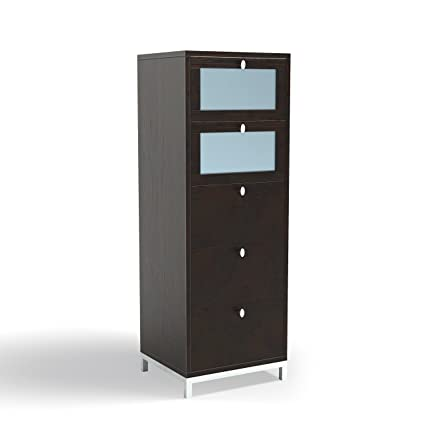 Amazon.com: ioHOMES Keller 5-Drawer Chest with Tempered Glass ...