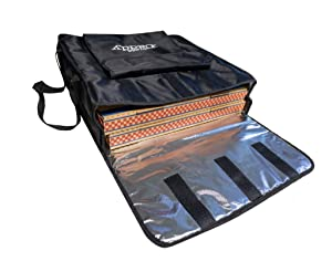 Pizza Caddy Insulated Food Delivery Bag 20-Inch by 20-Inch by 6-Inch