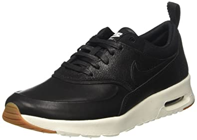 brand new 68b8d f579c Nike Womens Air Max Thea PRM Low Top Lace Up Running Sneaker, Black, Size