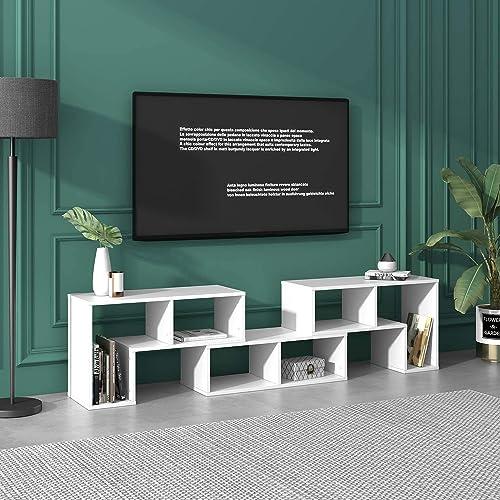 DEVAISE 3 Pieces TV Console Stand