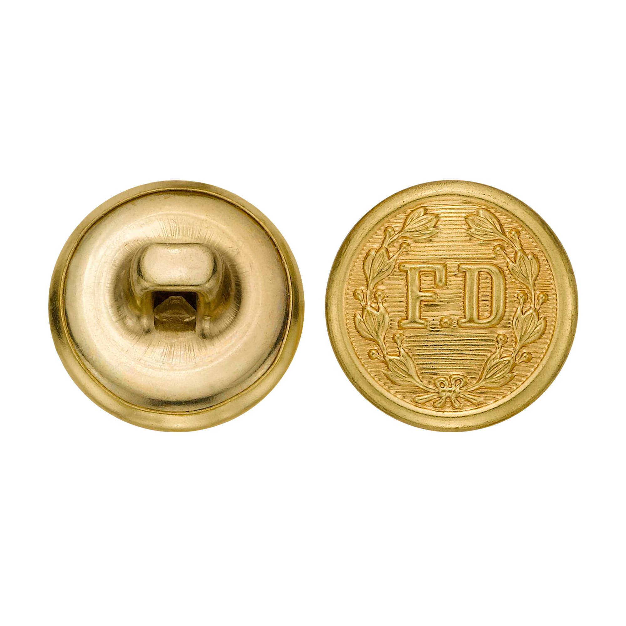 C&C Metal Products 5259 Fire Department Metal Button, Size 24 Ligne, Gold, 72-Pack