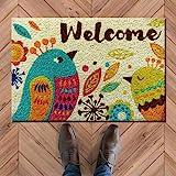 ATMAH Birdy Welome Coir Door Mat (40x60 cm)
