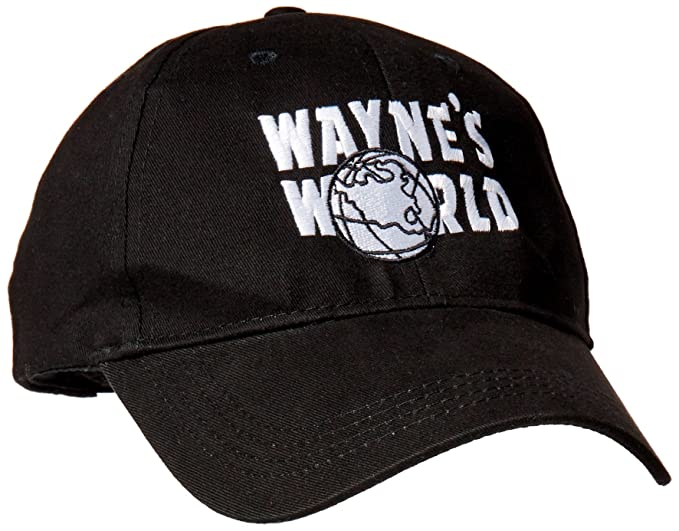 af3f6802105 Image Unavailable. Image not available for. Color  Magic Headwear Wayne s  World Adult Adjustable Black Baseball Hat Cap
