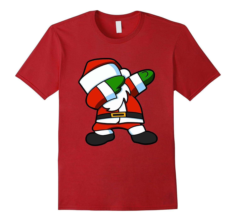 Dabbing Santa Christmas Tshirt for Kids and Adults-ANZ - Anztshirt