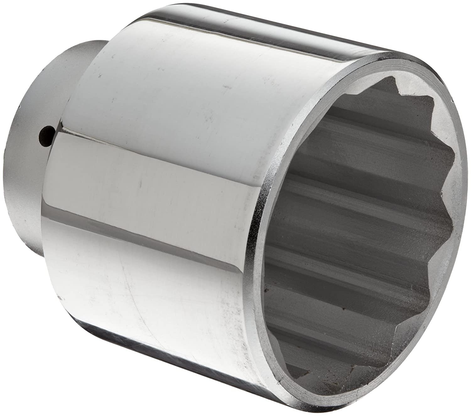 Martin X1296 Forged Alloy Steel 3 Type III Opening 1 Power Impact Square Drive Socket, 12 Points Standard, 3-15/16 Overall Length, Chrome Finish by Martin B002M8ZZ6C