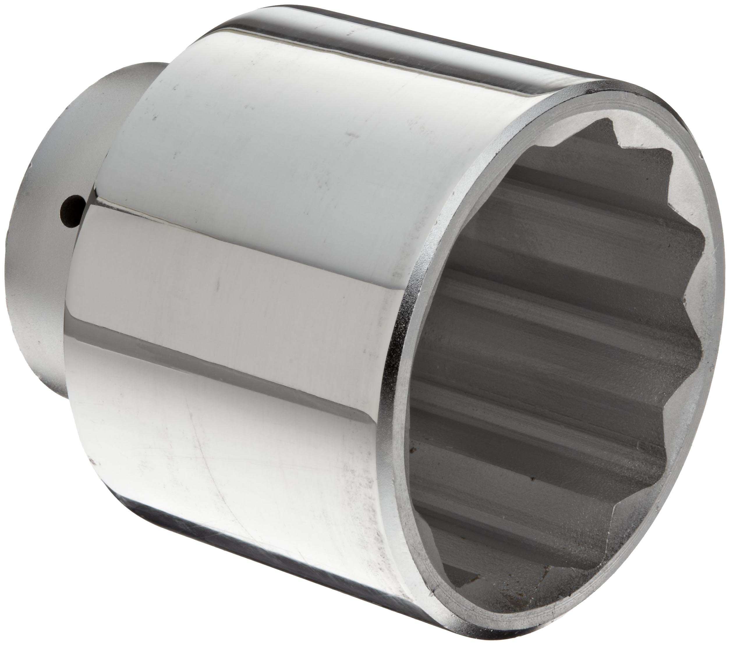 Martin X1296 Forged Alloy Steel 3'' Type III Opening 1'' Power Impact Square Drive Socket, 12 Points Standard, 3-15/16'' Overall Length, Chrome Finish