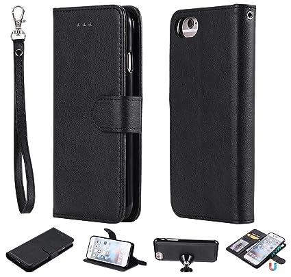 25dc6bd3fb1b Ostop Wallet Case for iPhone 6S,iPhone 6 Case,Black PU Slim Leather  Detachable