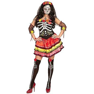 Widmann 65683adultes Costume Mujer Dia de los muertos, L
