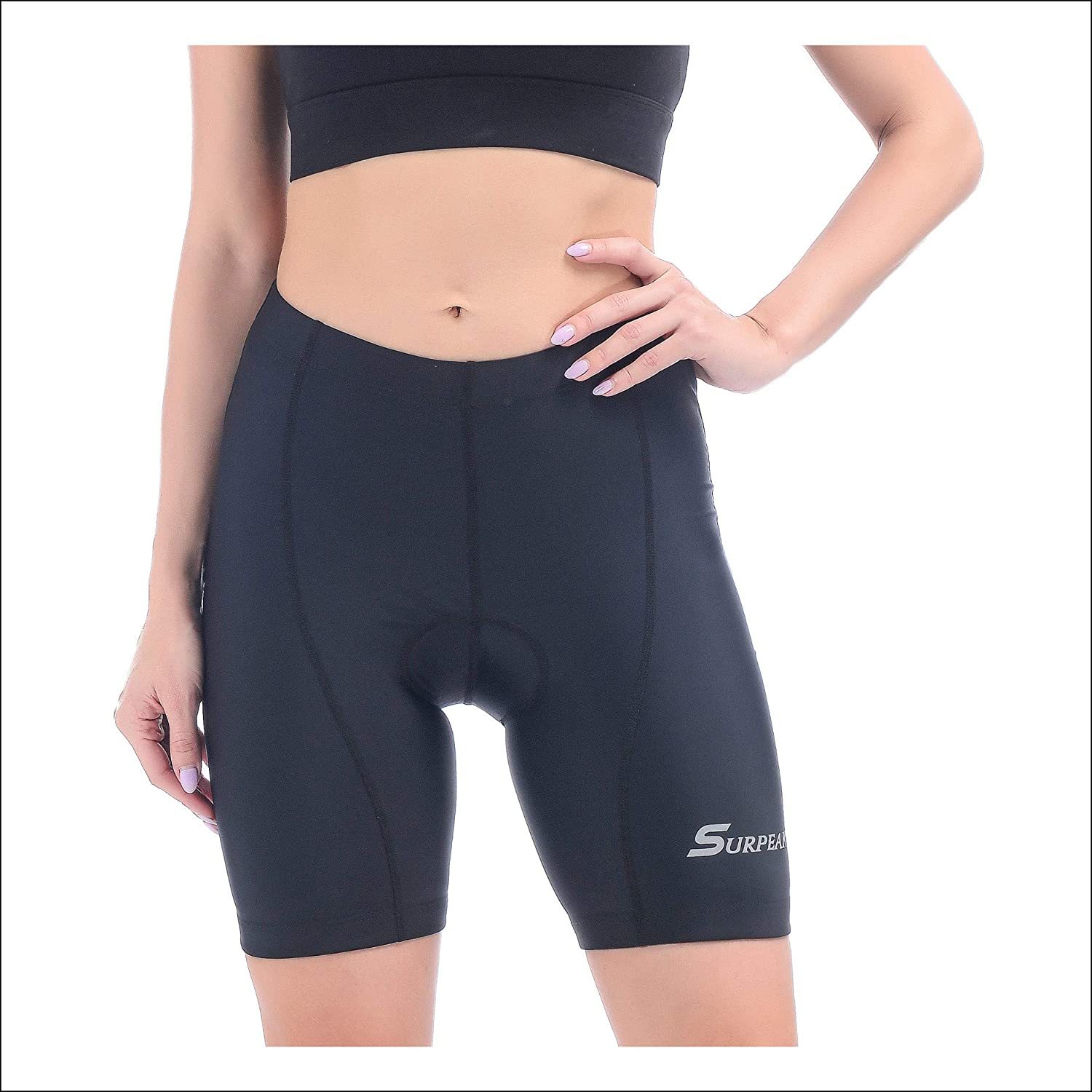 Women Cycling Bike Shorts Padded Breathable Bicycle Riding Tight Shorts with 3D Pad
