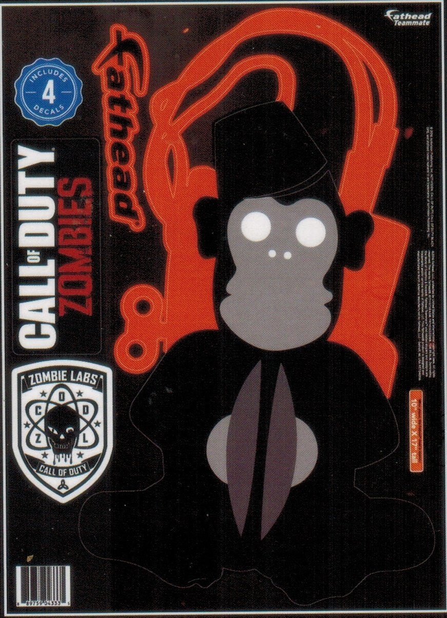 Call of Duty Zombies Monkeybomb Peel & Stick Vinyl Decals by FATHEAD