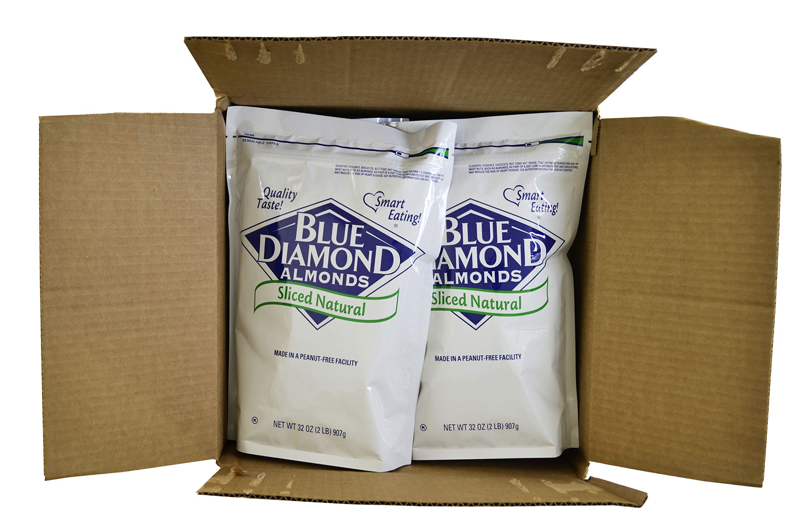 Blue Diamond, Natural Sliced Almonds 2 lb. (4 Count)